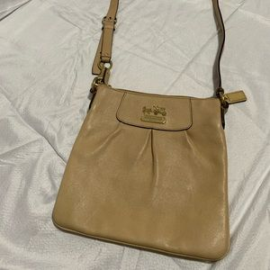 "Coach ""Madison"" Leather Crossbody Purse Bag"